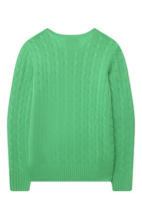 Детский кашемировый пуловер POLO RALPH LAUREN зеленого цвета, арт. 323560706 | Фото 2