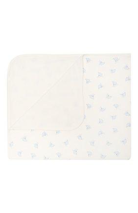 Детского хлопковое одеяло POLO RALPH LAUREN белого цвета, арт. 320833490 | Фото 1