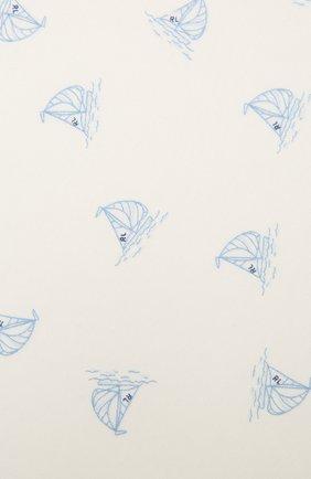 Детского хлопковое одеяло POLO RALPH LAUREN белого цвета, арт. 320833490 | Фото 2