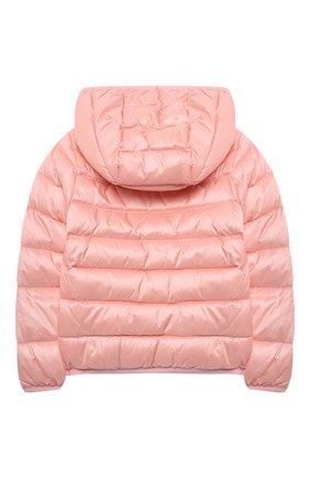 Детского пуховая куртка MOSCHINO розового цвета, арт. MUS01V/L3A32 | Фото 2
