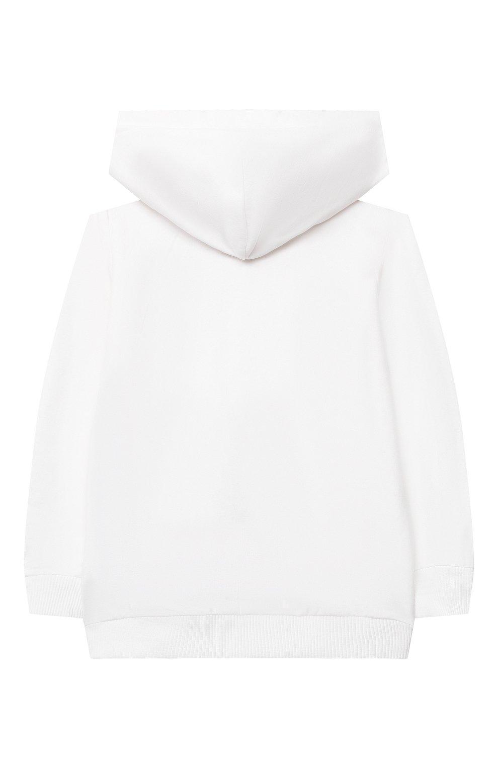 Детский комплект из толстовки и брюк MOSCHINO белого цвета, арт. MTK00G/LDA00 | Фото 3