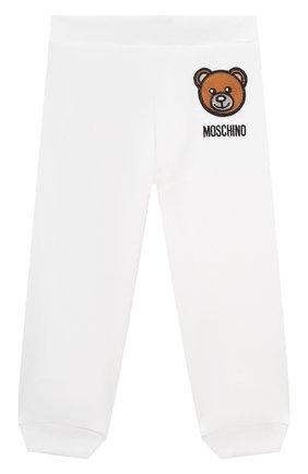 Детский комплект из толстовки и брюк MOSCHINO белого цвета, арт. MTK00G/LDA00 | Фото 4
