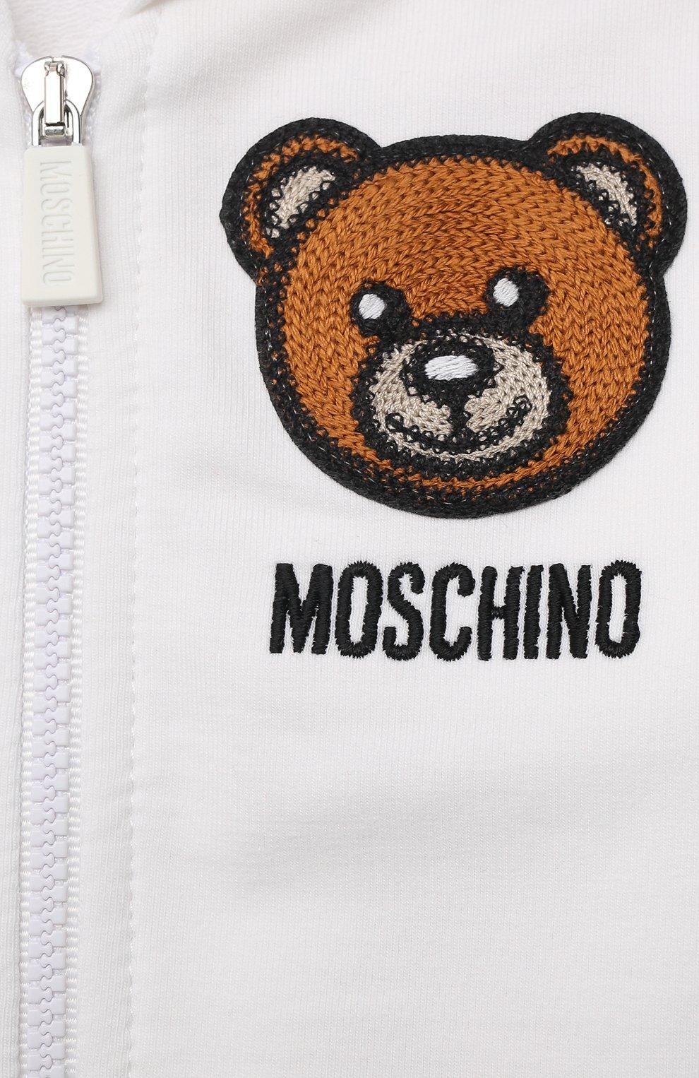 Детский комплект из толстовки и брюк MOSCHINO белого цвета, арт. MTK00G/LDA00 | Фото 6