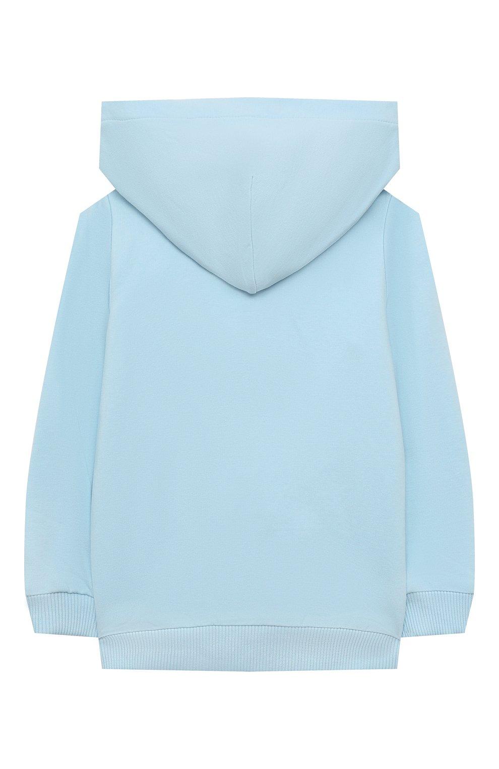 Детский комплект из толстовки и брюк MOSCHINO голубого цвета, арт. MTK00G/LDA00 | Фото 3