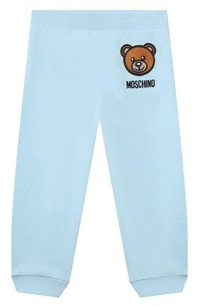 Детский комплект из толстовки и брюк MOSCHINO голубого цвета, арт. MTK00G/LDA00 | Фото 4