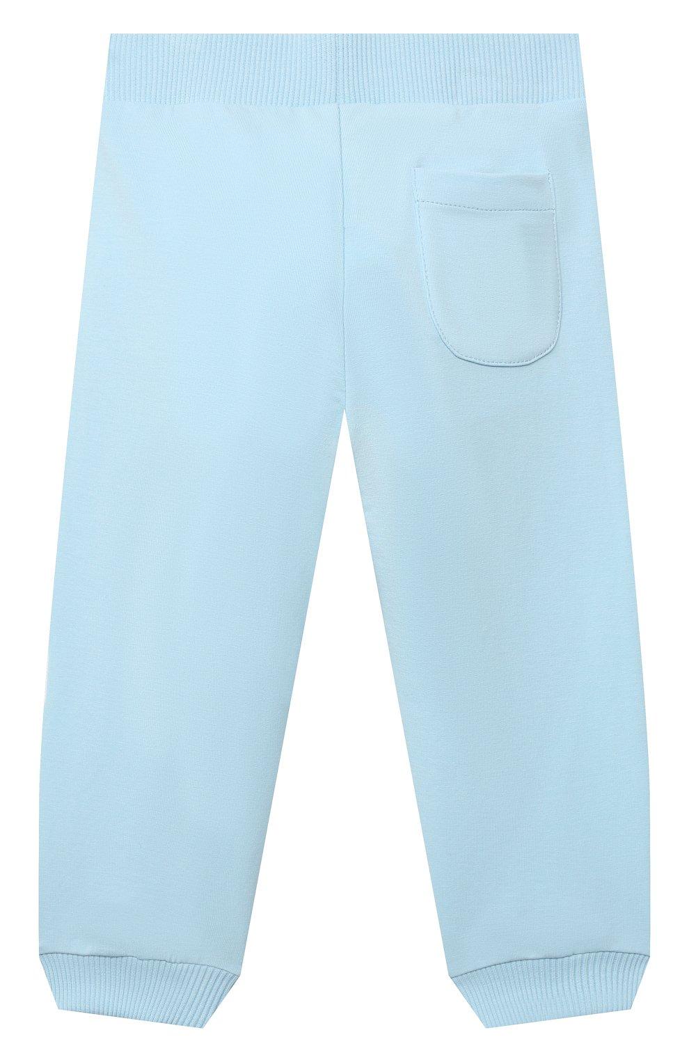 Детский комплект из толстовки и брюк MOSCHINO голубого цвета, арт. MTK00G/LDA00 | Фото 5