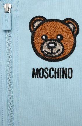 Детский комплект из толстовки и брюк MOSCHINO голубого цвета, арт. MTK00G/LDA00 | Фото 6