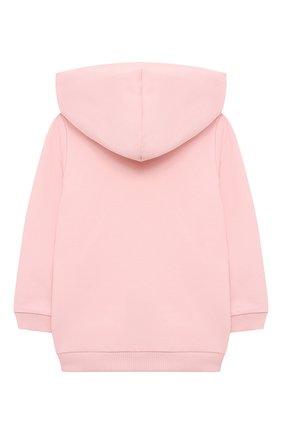 Детский комплект из толстовки и брюк MOSCHINO розового цвета, арт. MTK00G/LDA00 | Фото 3