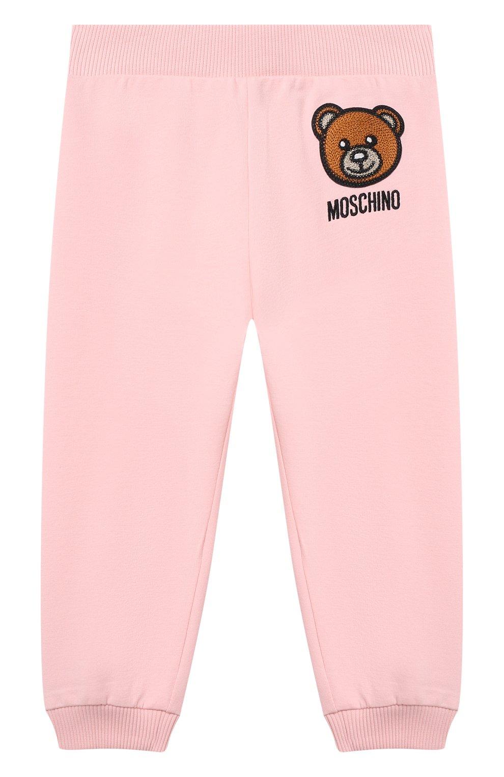 Детский комплект из толстовки и брюк MOSCHINO розового цвета, арт. MTK00G/LDA00 | Фото 4
