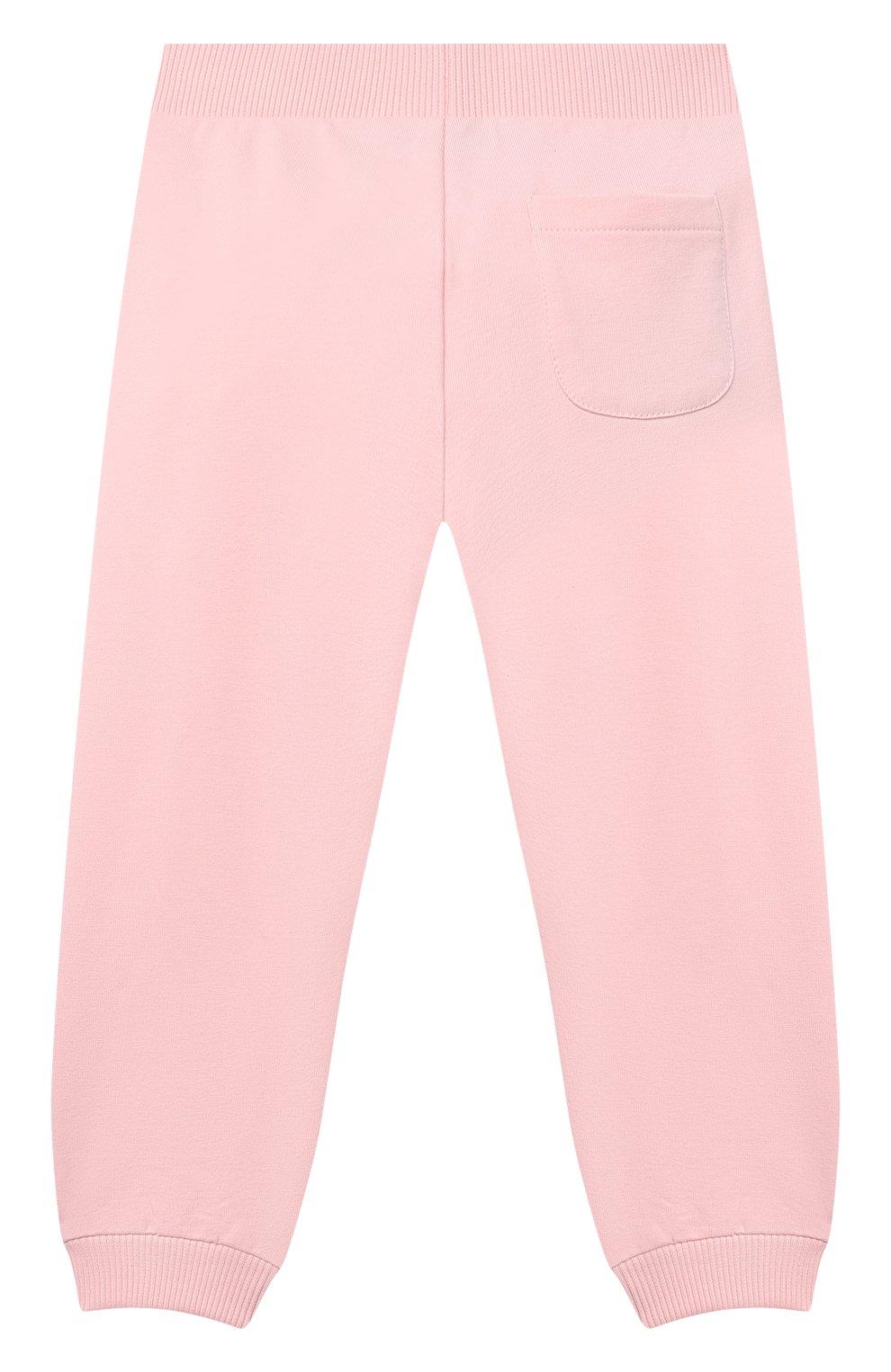 Детский комплект из толстовки и брюк MOSCHINO розового цвета, арт. MTK00G/LDA00 | Фото 5