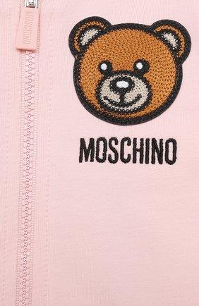 Детский комплект из толстовки и брюк MOSCHINO розового цвета, арт. MTK00G/LDA00 | Фото 6
