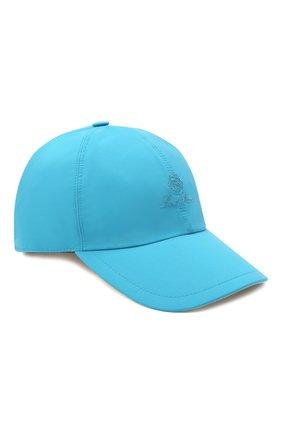 Детская бейсболка LORO PIANA синего цвета, арт. FAE8580 | Фото 1