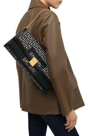 Женская сумка BALMAIN черного цвета, арт. VN1S610/TJGH | Фото 2