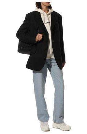 Женские кожаные кроссовки arthur  BURBERRY белого цвета, арт. 8037246 | Фото 2 (Подошва: Платформа; Материал внутренний: Натуральная кожа)