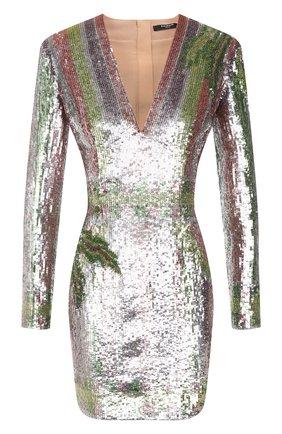 Женское платье с пайетками BALMAIN разноцветного цвета, арт. VF16261/P065 | Фото 1