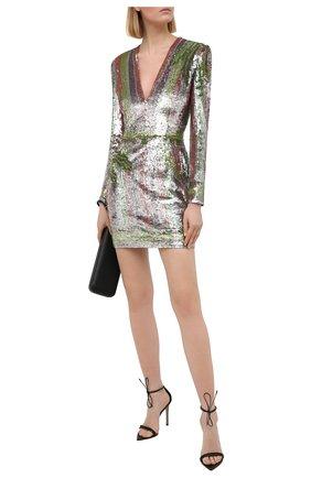 Женское платье с пайетками BALMAIN разноцветного цвета, арт. VF16261/P065 | Фото 2