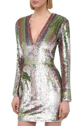 Женское платье с пайетками BALMAIN разноцветного цвета, арт. VF16261/P065 | Фото 3