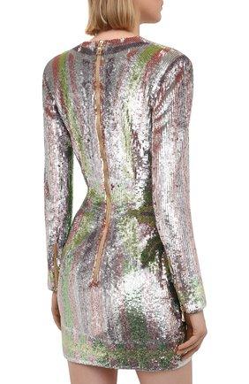 Женское платье с пайетками BALMAIN разноцветного цвета, арт. VF16261/P065 | Фото 4