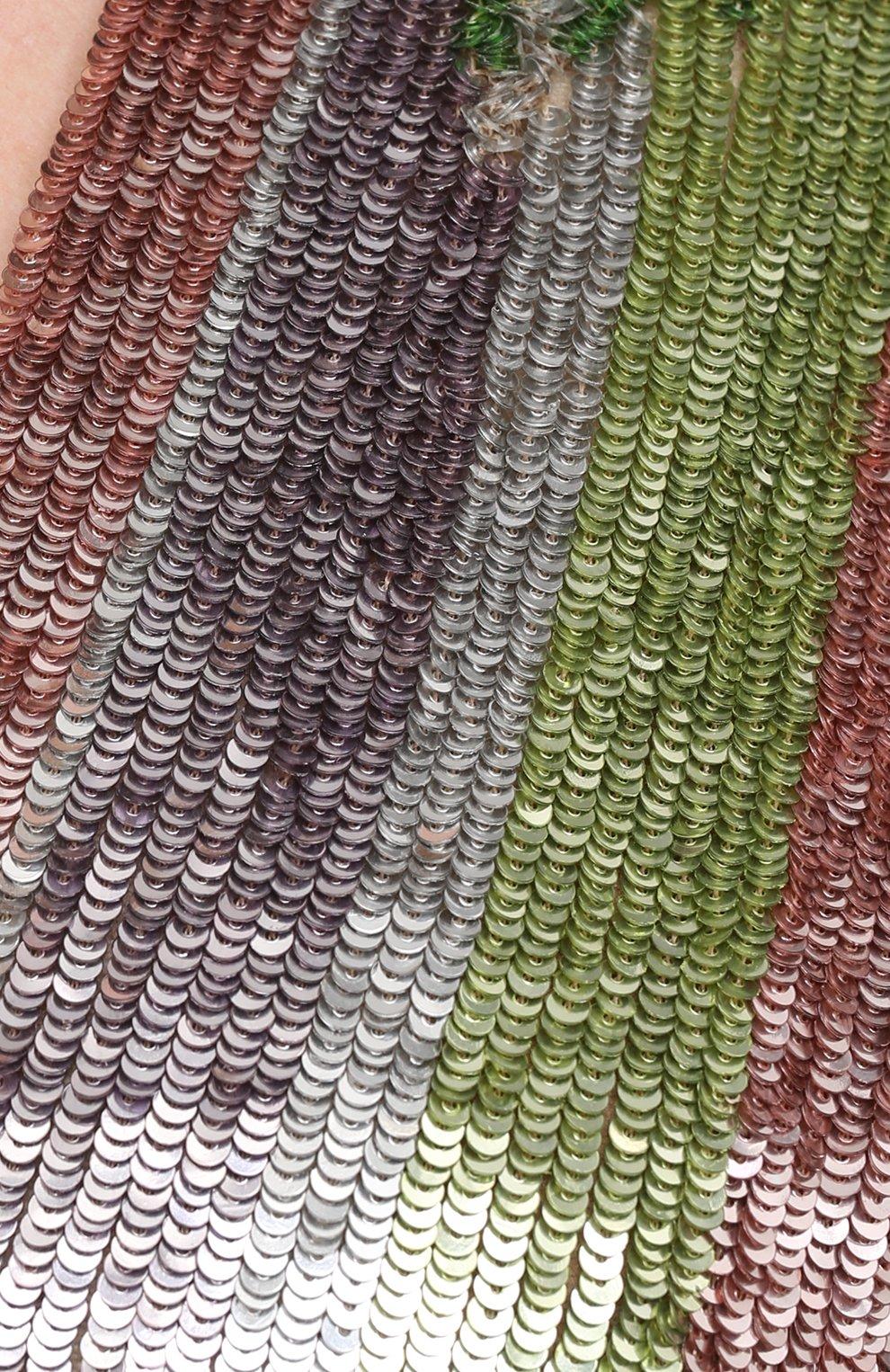 Женское платье с пайетками BALMAIN разноцветного цвета, арт. VF16261/P065 | Фото 5