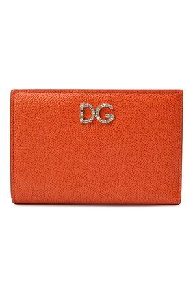 Женские кожаное портмоне DOLCE & GABBANA оранжевого цвета, арт. BI2697/AU771 | Фото 1
