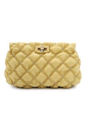 Женская сумка spikeme VALENTINO желтого цвета, арт. VW2B0I22/MCW   Фото 1 (Ремень/цепочка: На ремешке; Сумки-технические: Сумки через плечо; Материал: Натуральная кожа; Размер: medium)