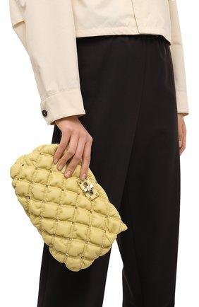 Женская сумка spikeme VALENTINO желтого цвета, арт. VW2B0I22/MCW   Фото 2 (Ремень/цепочка: На ремешке; Сумки-технические: Сумки через плечо; Материал: Натуральная кожа; Размер: medium)