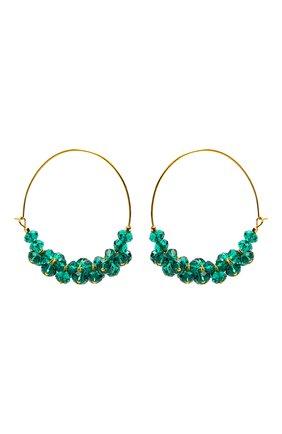 Женские серьги ISABEL MARANT зеленого цвета, арт. BL0709-21P029B | Фото 1
