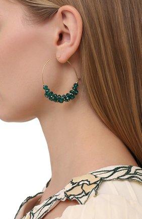 Женские серьги ISABEL MARANT зеленого цвета, арт. BL0709-21P029B | Фото 2