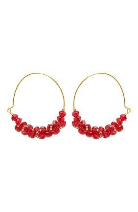 Женские серьги ISABEL MARANT красного цвета, арт. BL0709-21P029B | Фото 1