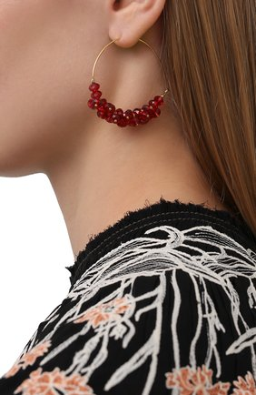 Женские серьги ISABEL MARANT красного цвета, арт. BL0709-21P029B | Фото 2
