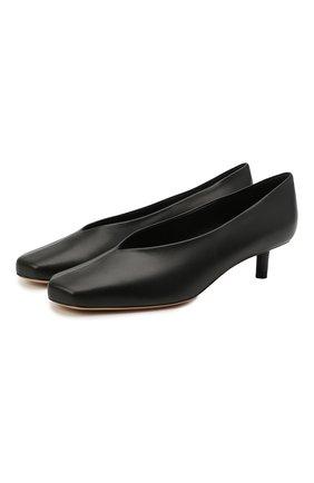 Женские кожаные туфли diamond 40 BURBERRY черного цвета, арт. 8037439   Фото 1 (Подошва: Плоская; Каблук тип: Шпилька; Материал внутренний: Натуральная кожа; Каблук высота: Низкий)