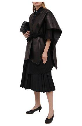 Женские кожаные туфли diamond 40 BURBERRY черного цвета, арт. 8037439   Фото 2 (Подошва: Плоская; Каблук тип: Шпилька; Материал внутренний: Натуральная кожа; Каблук высота: Низкий)
