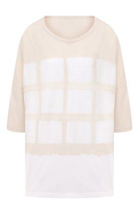 Женская хлопковая футболка Y`S белого цвета, арт. YT-T16-675   Фото 1