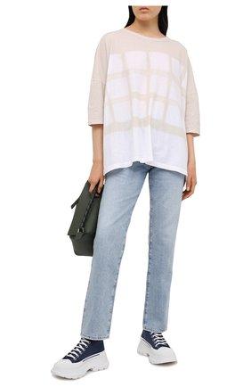 Женская хлопковая футболка Y`S белого цвета, арт. YT-T16-675   Фото 2