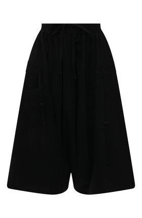 Женские хлопковые брюки Y`S черного цвета, арт. YT-T06-671 | Фото 1