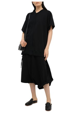 Женские хлопковые брюки Y`S черного цвета, арт. YT-T06-671 | Фото 2