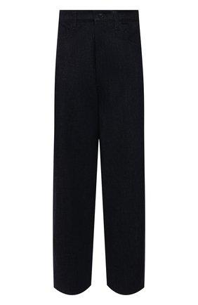 Женские хлопковые брюки Y`S синего цвета, арт. YT-P04-829   Фото 1