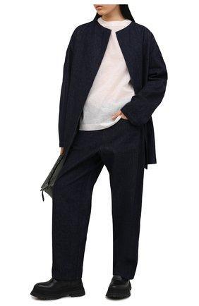 Женские хлопковые брюки Y`S синего цвета, арт. YT-P04-829   Фото 2