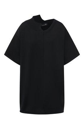 Женская хлопковая футболка Y`S черного цвета, арт. YT-K64-046   Фото 1