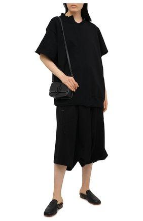 Женская хлопковая футболка Y`S черного цвета, арт. YT-K64-046   Фото 2