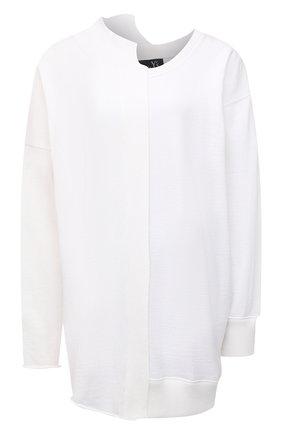 Женский хлопковый пуловер Y`S белого цвета, арт. YT-K62-046   Фото 1