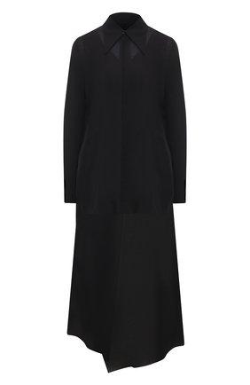Женское хлопковое платье Y`S черного цвета, арт. YT-D40-031 | Фото 1