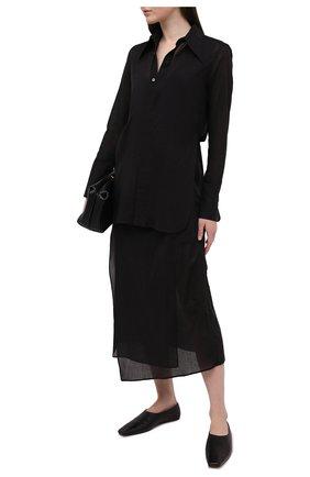Женское хлопковое платье Y`S черного цвета, арт. YT-D40-031   Фото 2