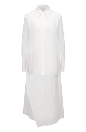 Женское хлопковое платье Y`S белого цвета, арт. YT-D40-031   Фото 1
