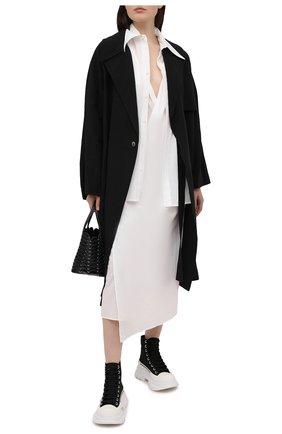 Женское хлопковое платье Y`S белого цвета, арт. YT-D40-031   Фото 2