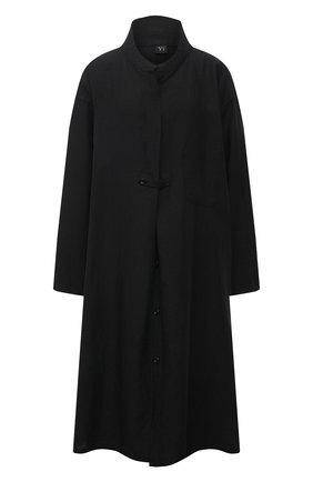 Женское льняное платье Y`S черного цвета, арт. YT-D06-329   Фото 1