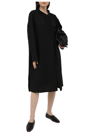Женское льняное платье Y`S черного цвета, арт. YT-D06-329 | Фото 2