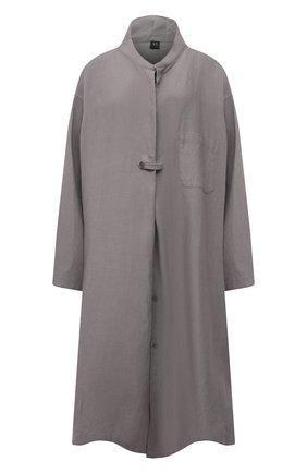 Женское льняное платье Y`S серого цвета, арт. YT-D06-329   Фото 1