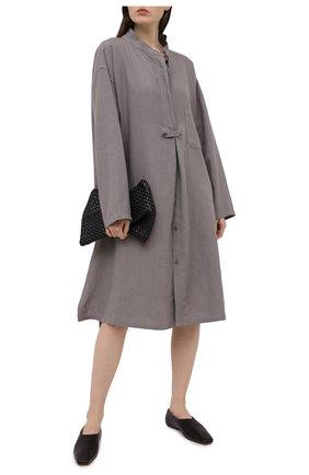 Женское льняное платье Y`S серого цвета, арт. YT-D06-329   Фото 2