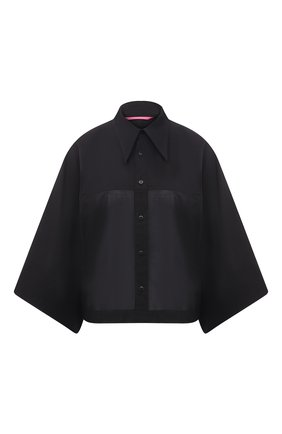 Женская хлопковая рубашка Y`S черного цвета, арт. YT-B43-031   Фото 1